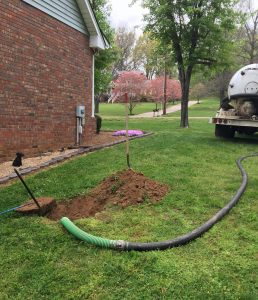 septic pump and regular maintenance at Lalone home in Cottontown, TN