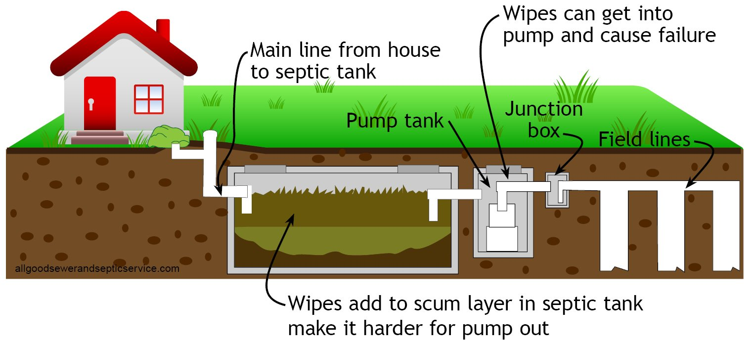 Disposable wipes could be the time bomb in your septic tank